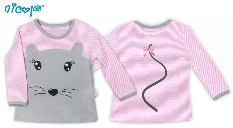 Bavlněné tričko Myšička - dlouhý