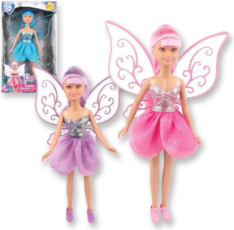 Panenka Defa Lucy 23 cm víla s křídly princezna - 3 barvy