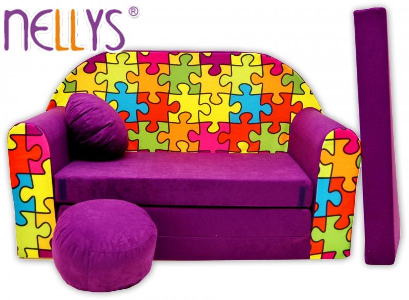 rozkladaci-detska-pohovka-nellys-68r-puzzle-fialove