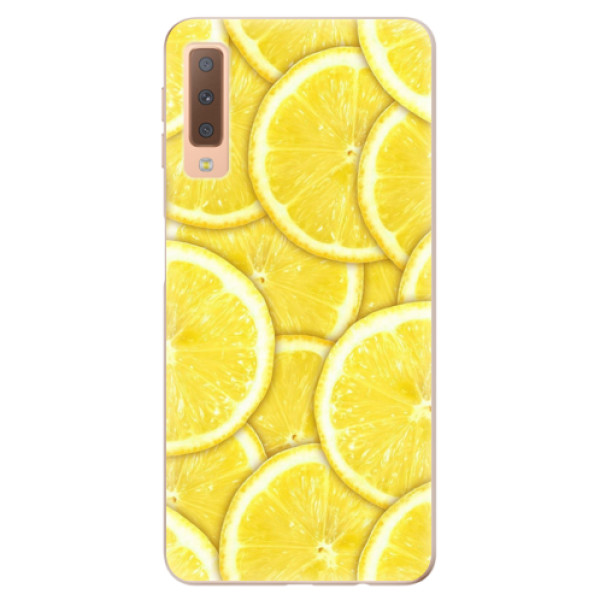 Odolné silikonové pouzdro iSaprio - Yellow - Samsung Galaxy A7 (2018)