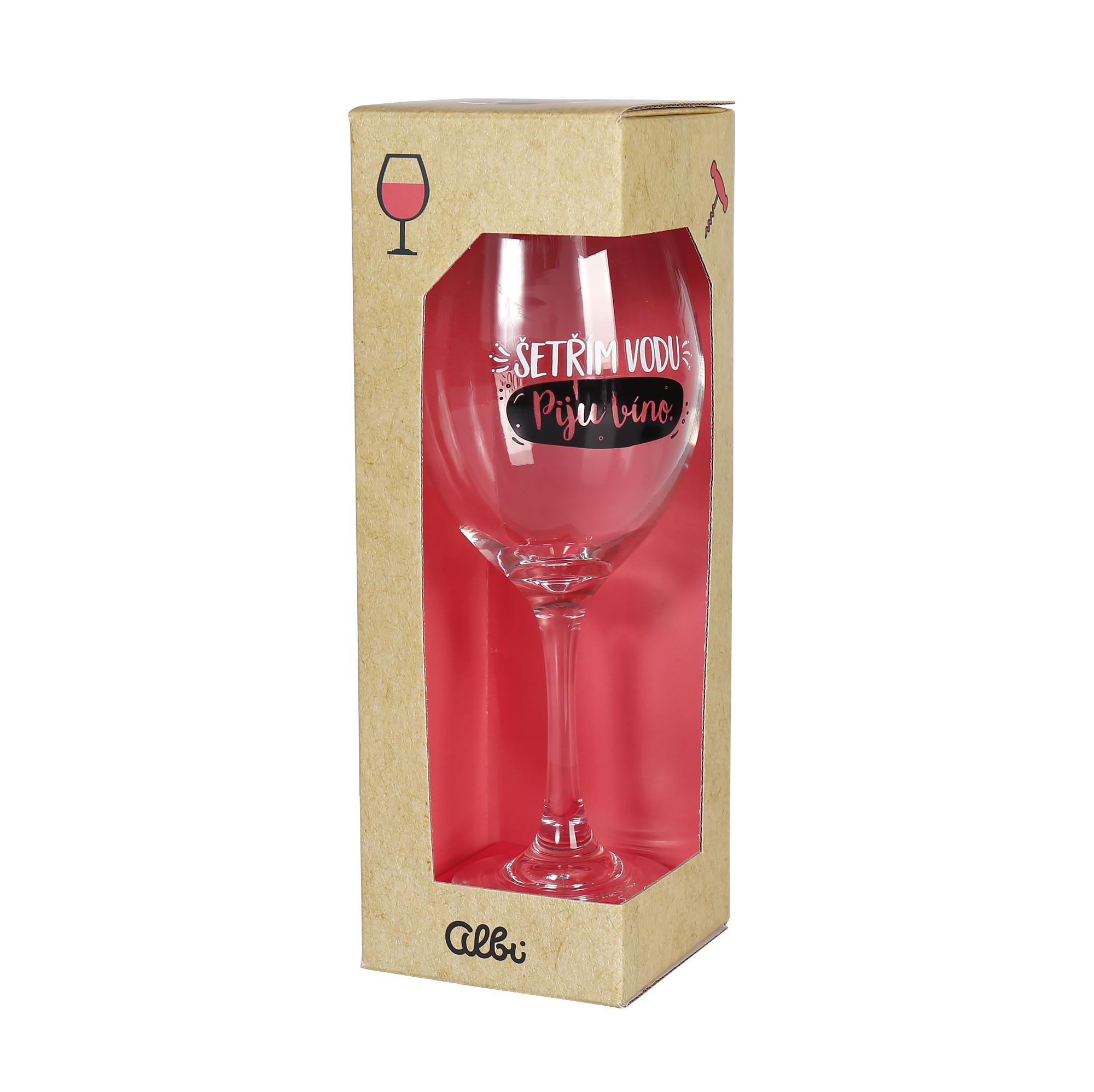 Mega sklenice na víno - Šetřím vodu