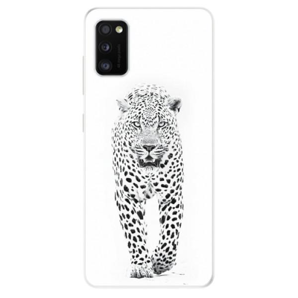 Odolné silikonové pouzdro iSaprio - White Jaguar - Samsung Galaxy A41