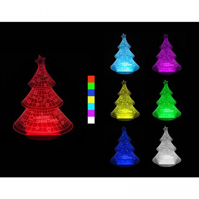 Vánoční LED dekorační světlo tvar stromečku 4,5V Časžít