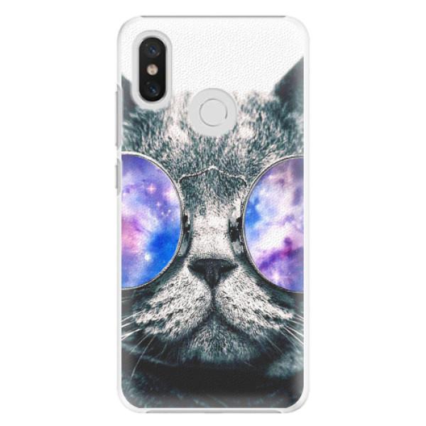 Plastové pouzdro iSaprio - Galaxy Cat - Xiaomi Mi 8
