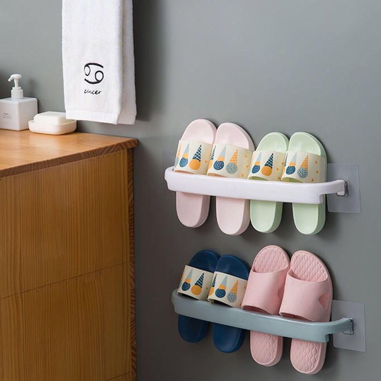 Nalepovací držák na ručníky - bílý
