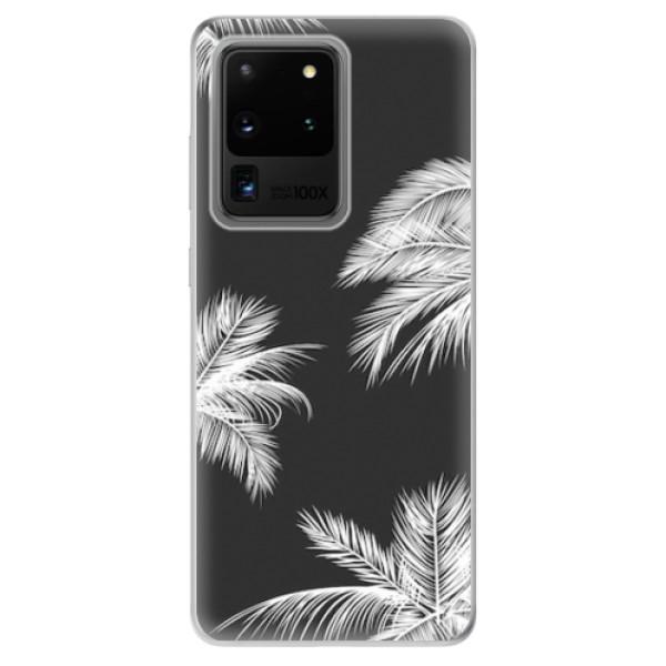 Odolné silikonové pouzdro iSaprio - White Palm - Samsung Galaxy S20 Ultra