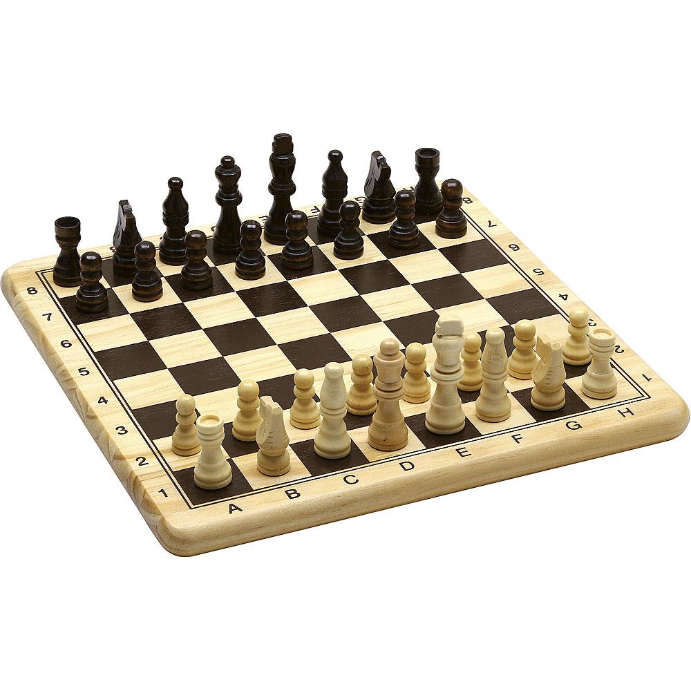 Jeujura Dřevěné šachy a dáma