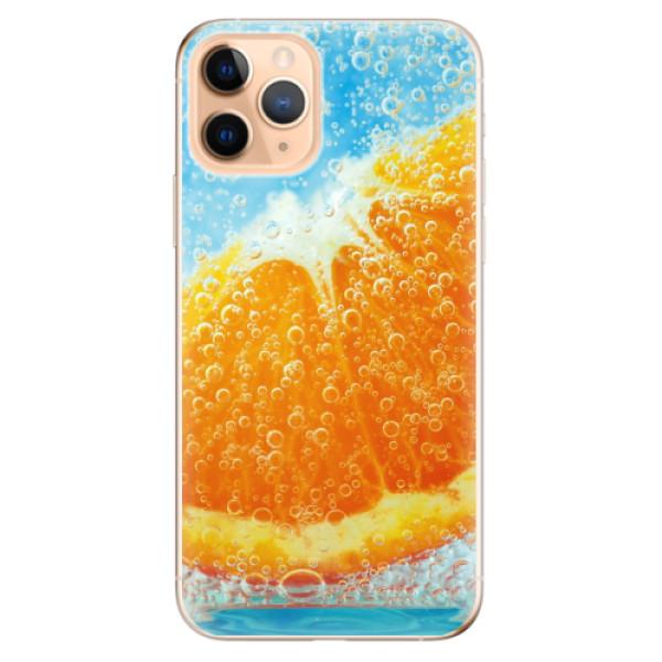 Odolné silikonové pouzdro iSaprio - Orange Water - iPhone 11 Pro