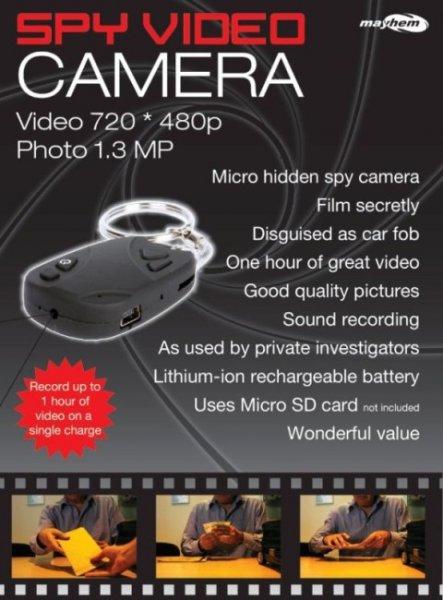 Špionážní mikrokamera - klíčenka