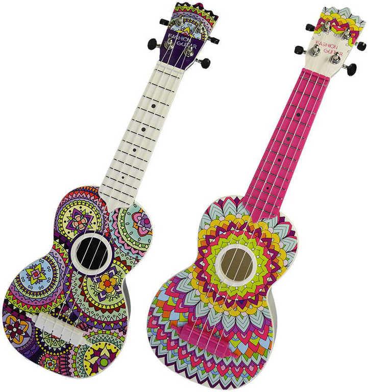 Kytara dětská akustická 52cm španělka barevná 3 druhy *HUDEBNÍ NÁSTROJE*