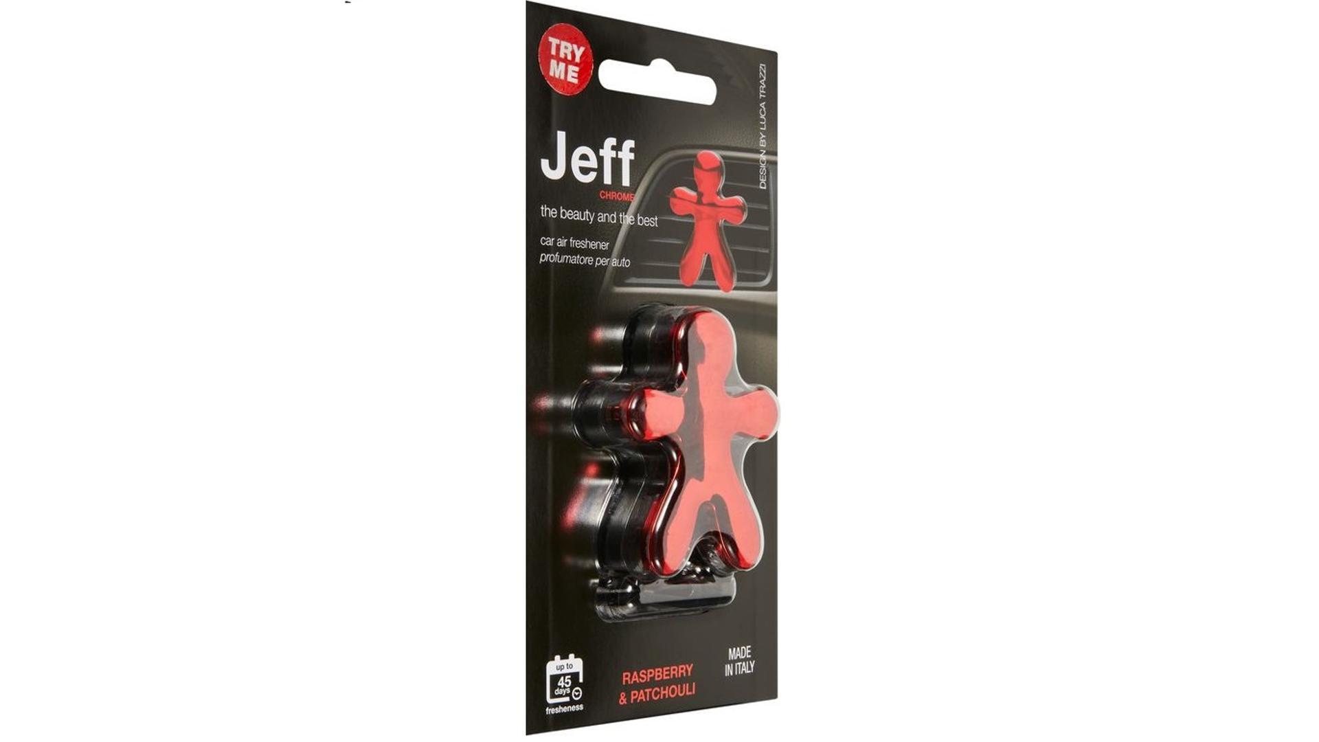 JEFF osvěžovač vzduchu rudý chrome - Raspberry & Patchouli