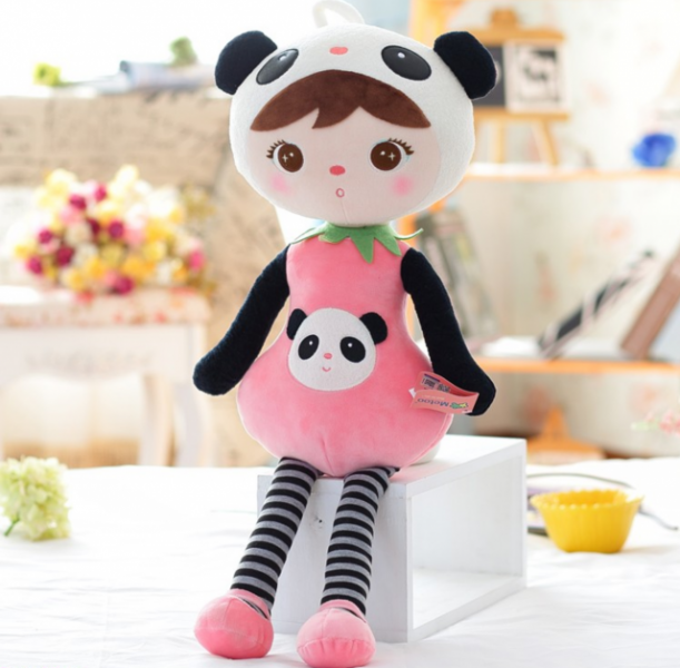 Hadrová panenka Metoo XL - medvídek Panda, 70cm