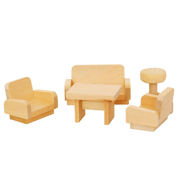 DŘEVO Obývací pokoj nábytek pro panenky *DŘEVĚNÉ HRAČKY*