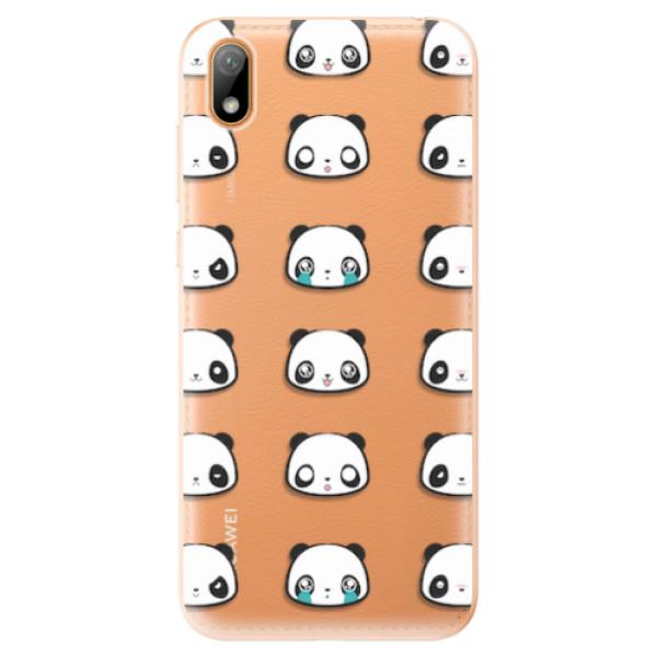 Odolné silikonové pouzdro iSaprio - Panda pattern 01 - Huawei Y5 2019