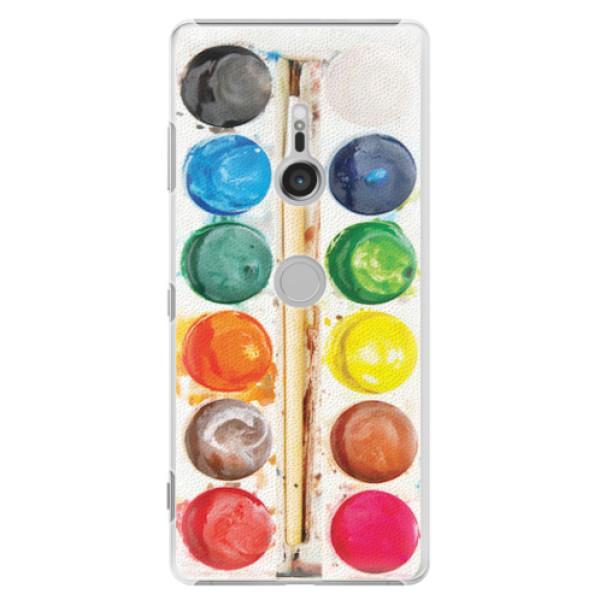 Plastové pouzdro iSaprio - Watercolors - Sony Xperia XZ3