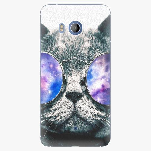 Plastový kryt iSaprio - Galaxy Cat - HTC U11
