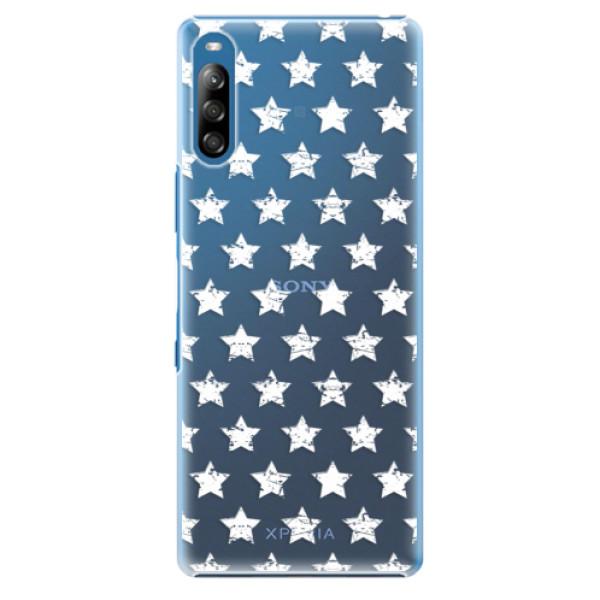 Plastové pouzdro iSaprio - Stars Pattern - white - Sony Xperia L4