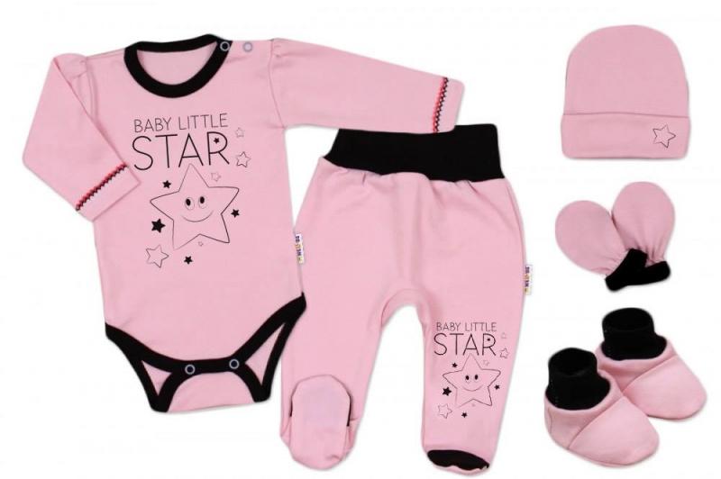 baby-nellys-5-ti-dilna-soupravicka-do-porodnice-baby-little-star-ruzova-vel-68-k19-68-4-6m