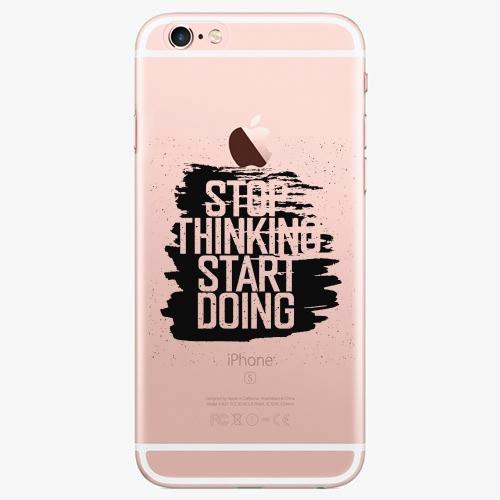 Silikonové pouzdro iSaprio - Start Doing - black - iPhone 7