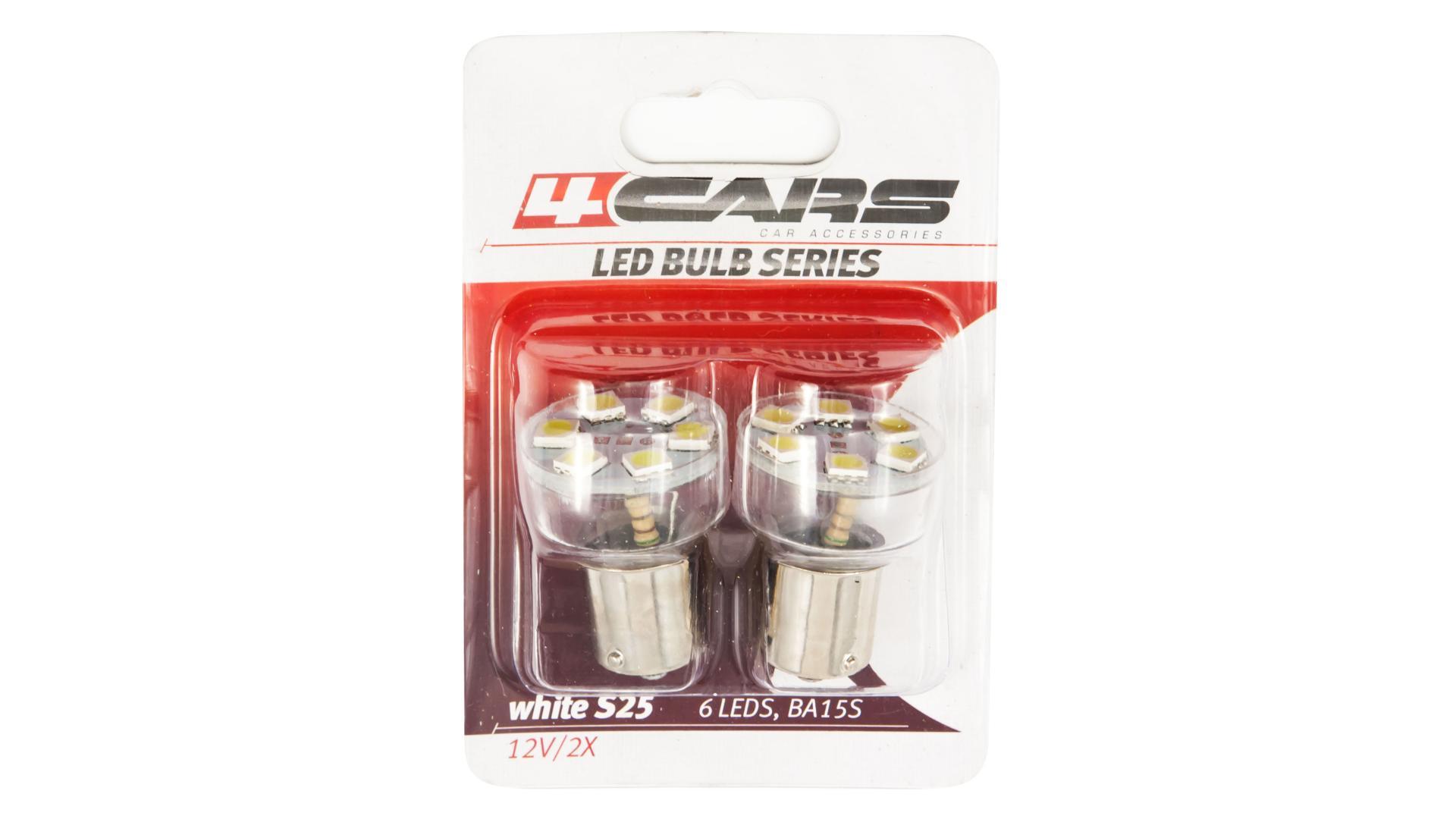 4CARS LED žárovka 6LED 12V S25-5050SMD BA15S