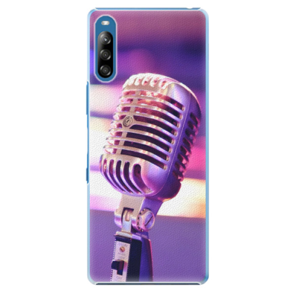 Plastové pouzdro iSaprio - Vintage Microphone - Sony Xperia L4