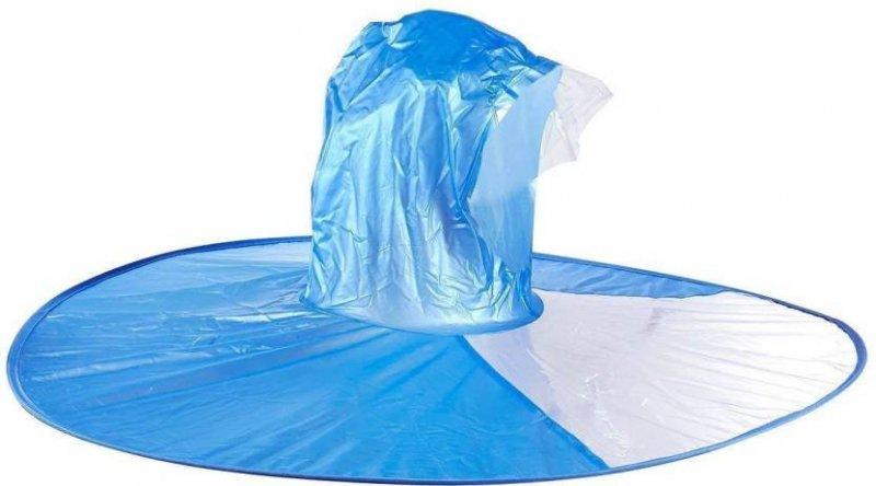 Handsfree pláštěnka na hlavu (XL) - Modrá