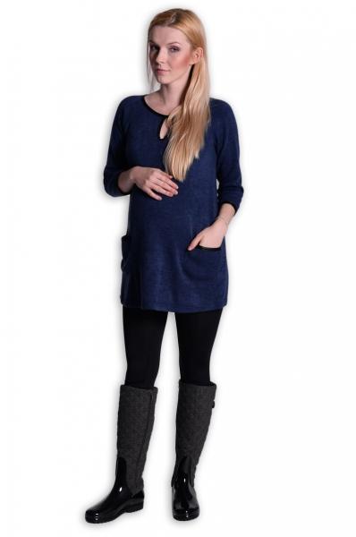 Tunika, šaty 3/4 rukáv - inkoust
