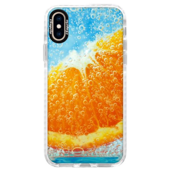 Silikonové pouzdro Bumper iSaprio - Orange Water - iPhone XS