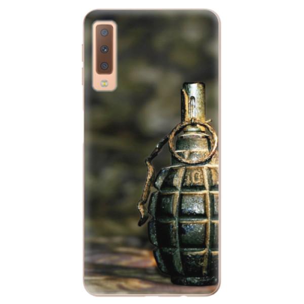 Odolné silikonové pouzdro iSaprio - Grenade - Samsung Galaxy A7 (2018)