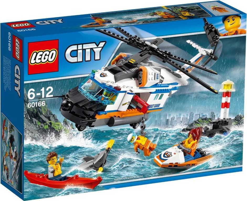 LEGO CITY Výkonná záchranářská helikoptéra 60166 STAVEBNICE