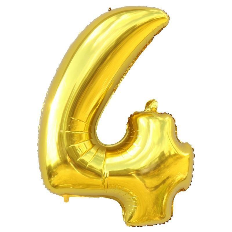 Nafukovací balónky čísla maxi zlaté - 4