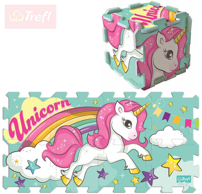 TREFL Baby puzzle soft pěnové Unicorn set 8 dílků 32x32cm pro miminko