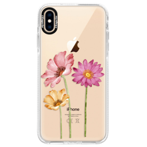 Silikonové pouzdro Bumper iSaprio - Three Flowers - iPhone XS Max
