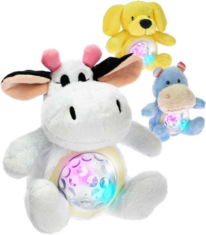 PLYŠ Zvířátko Starlight Pets 2v1 lampička usínáček na baterie 6 druhů Světlo Zvuk