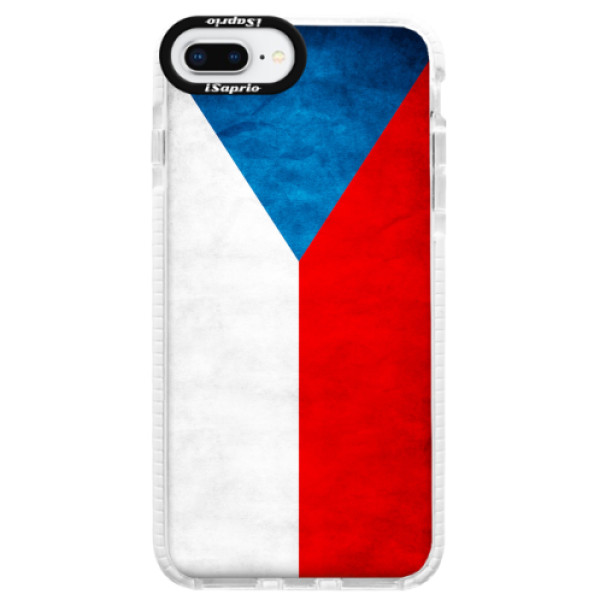 Silikonové pouzdro Bumper iSaprio - Czech Flag - iPhone 8 Plus