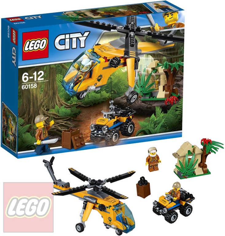 LEGO CITY Nákladní helikoptéra do džungle 60158 STAVEBNICE