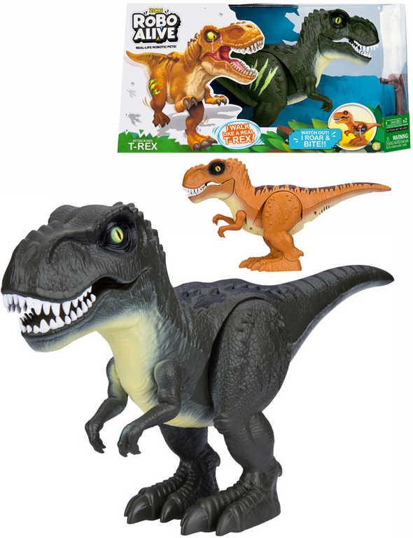ZURU Robo Alive dinosaurus zvířátko na baterie reaguje na dotek realistický vzhled 2 barvy