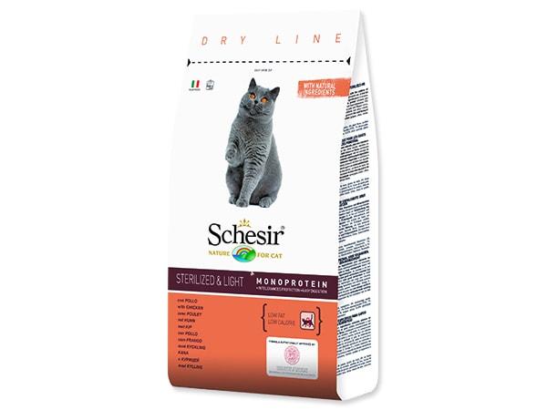 SCHESIR Cat pro kočky sterilizované a s nadváhou 1,5kg