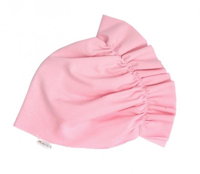 Mamatti Bavlněná dětská čepice - turban světle