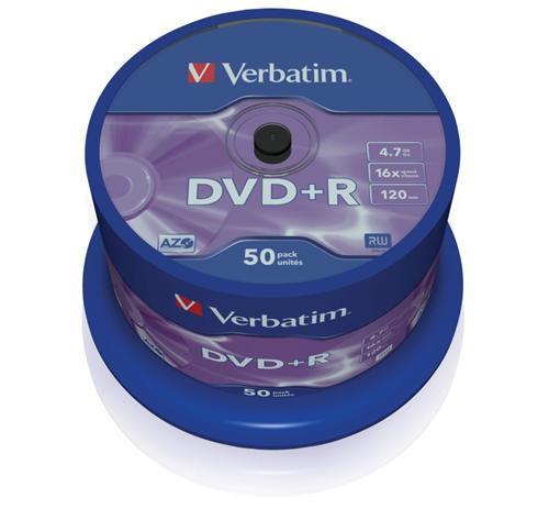 Médium Verbatim DVD+R 4,7GB 16x 50-cake
