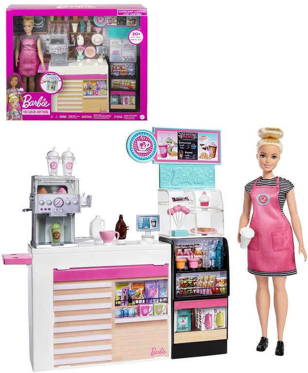 MATTEL BRB Barbie kavárna herní set panenka s doplňky