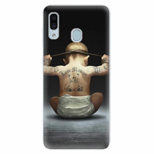 Silikonové pouzdro iSaprio - Crazy Baby - Samsung Galaxy A30