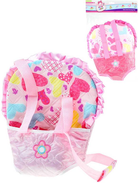 Baby nosítko klokanka pro panenku miminko různé barvy