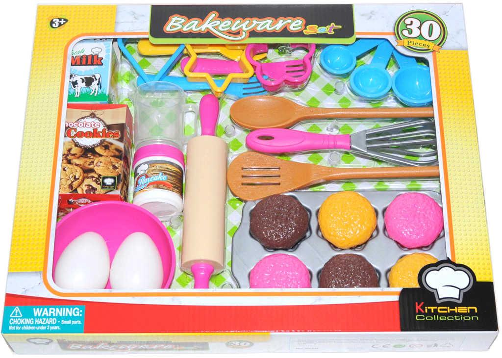 Sada kuchyňská na pečení s nástroji a potravinammi v krabici