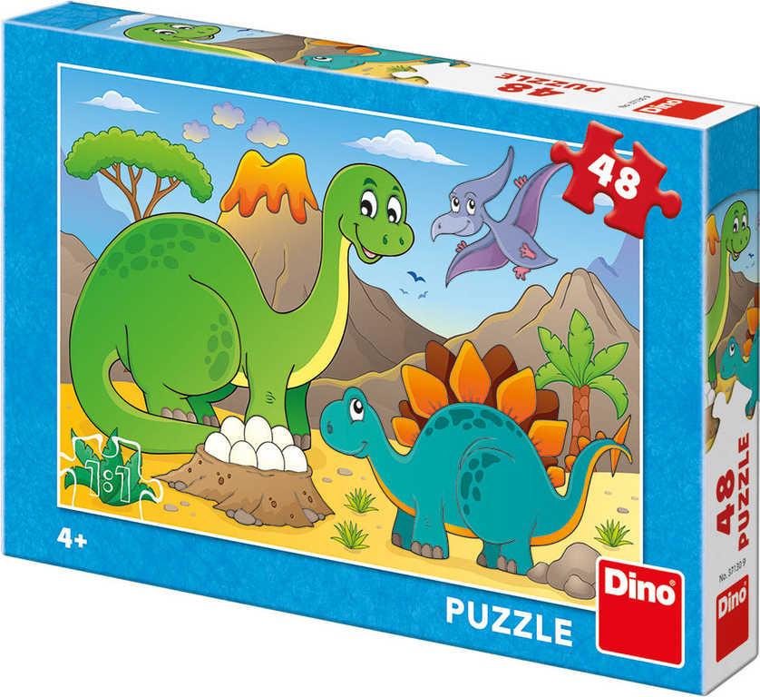 DINO Puzzle Dinosauři 48 dílků 26x18cm skládačka v krabici