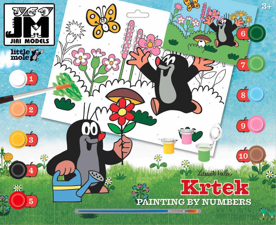 JIRI MODELS Malování podle čísel A3 Krtek (Krteček) set s barvičkami