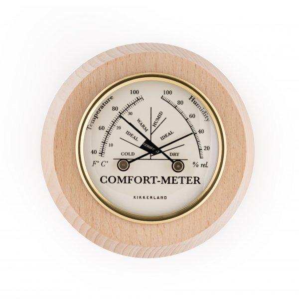 Komfortní dřevěný teploměr