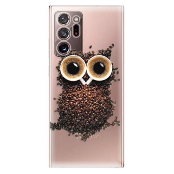 Odolné silikonové pouzdro iSaprio - Owl And Coffee - Samsung Galaxy Note 20 Ultra