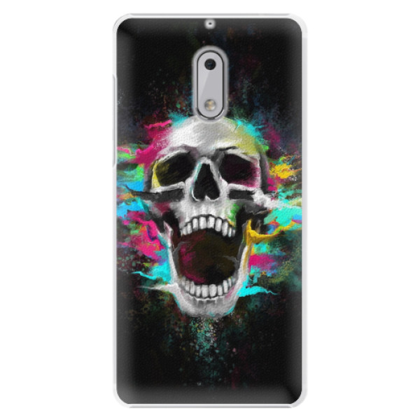Plastové pouzdro iSaprio - Skull in Colors - Nokia 6