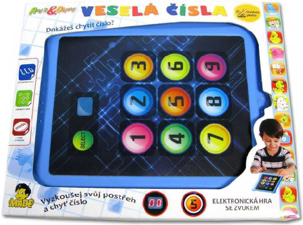 Hra interaktivní postřehová Veselá čísla tablet